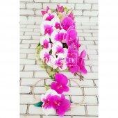 ıslak Delux Orkide Lilyum Şöleni Gelin Çiçeği...