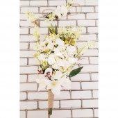 Sarkan Sümbül Orkide Lilyum Kokteyli Gelin Çiçeği Beyaz 3lü set-2