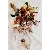 Agata Pastel Kahve Tonlar Gelin Çiçeği 2li Set-2