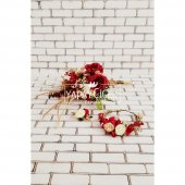 Gelin Çiçeği Naturelbordo Salaş 3lü Set