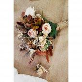 Agata Pastel Kahve Tonlar Gelin Çiçeği 2li Set-4