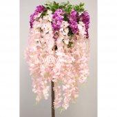 Yapay Akasya Ağacı Pembe Çiçekli 180cm-2