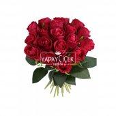 Yapay Çiçek 18li Tomur Gül Buketi Fusya-Kırmızı