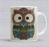 Baykuş Kupa Bardak Porselen
