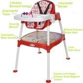 Xmamma 3 In 1 Multi Mama Sandalyesi-Çalışma Masalı Mama Sandalyesi-3
