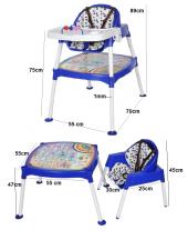 Xmamma 3 In 1 Multi Mama Sandalyesi-Çalışma Masalı Mama Sandalyesi-4