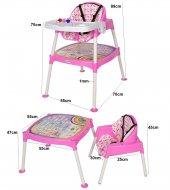 Xmamma 3 In 1 Multi Mama Sandalyesi-Çalışma Masalı Mama Sandalyesi-6