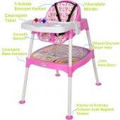 Xmamma 3 In 1 Multi Mama Sandalyesi-Çalışma Masalı Mama Sandalyesi-7