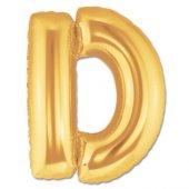 D Harf Folyo Balon Gold 100 Cm (1 Metre)