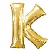 K Harf Folyo Balon Gold 100 Cm (1 Metre)