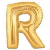 R Harf Folyo Balon Gold 100 Cm (1 Metre)