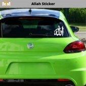 Allah Oto Sticker