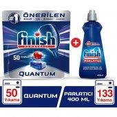 Finish Quantum 50 Tablet Bulaşık Makinesi Deterjanı + Finish Parlatıcı 400 ml