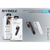 Syrox Bluetooth Kablosuz Kulak İçi Spor Kulaklık Syx Mx16