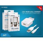 Syrox Mikro Usb Hızlı Şarj Cihazı (2.6 Mah) Syx J47