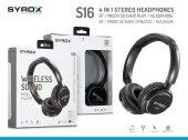 Syrox S16 Kablosuz Hafıza Kartlı Bluetooth Kulaklık - SYX-S16