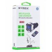 Syrox Mp3 Hafıza Kart Usb Fm Transmitter Ve Araç Şarjı 2.1a