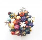 Sukulent Saksı Renkli Çiçek Demeti-2