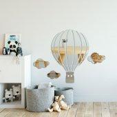 Balon ve Bulut Figürlü Dekoratif Duvar Aynası