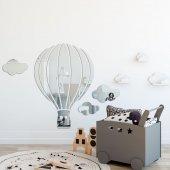 Balon ve Bulut Figürlü Dekoratif Duvar Aynası-2