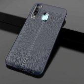 Samsung Galaxy A20S Kılıf Deri Görünümlü Silikon Zore-2