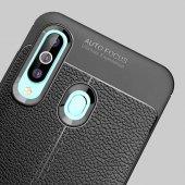 Samsung Galaxy A20S Kılıf Deri Görünümlü Silikon Zore-8