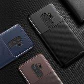 Samsung Galaxy S9 Plus Kılıf Karbon Tasarım Silikon Kılıf Zore