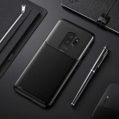 Samsung Galaxy S9 Plus Kılıf Karbon Tasarım Silikon Kılıf Zore-4