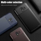 Samsung Galaxy J4 Kılıf Karbon Tasarım Silikon Kılıf Zore