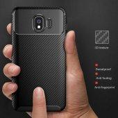 Samsung Galaxy J4 Kılıf Karbon Tasarım Silikon Kılıf Zore-8
