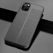 iPhone 11 Pro Max Kılıf Deri Görünümlü Silikon Kılıf Zore-2