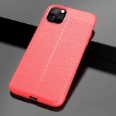 iPhone 11 Pro Max Kılıf Deri Görünümlü Silikon Kılıf Zore-3