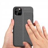 iPhone 11 Pro Max Kılıf Deri Görünümlü Silikon Kılıf Zore-6