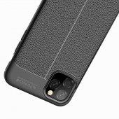 iPhone 11 Pro Max Kılıf Deri Görünümlü Silikon Kılıf Zore-9