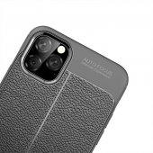 iPhone 11 Pro Max Kılıf Deri Görünümlü Silikon Kılıf Zore-10
