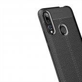 Huawei Y9 Prime 2019 Kılıf Deri Görünümlü Silikon Kılıf Zore-9