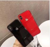 APPLE Logolu iPHONE CAM KILIF MODELLERİ ULTRA LÜX KORUMA-4