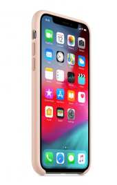 Apple Logolu iPhone X-XS Lansman Kılıf - Kum Pembe