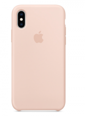 Apple Logolu iPhone X-XS Lansman Kılıf - Kum Pembe-2
