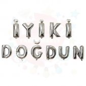 Iyiki Doğdun Gümüş Folyo Balon Set