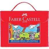 Faber Pastel Boya 18 Renk Plastik Çantalı