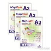 Mapilam 250 Mic. A3 Parlak Polyester (100 Adet)