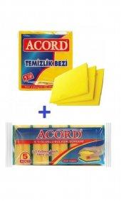 Acord 2' Li Temizlik Seti (3' Lü Sarı Bez + 5' Li Sünger