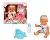 Boubou Oyuncak Altını Islatan Sesli Bebek Seti 30 Cm.