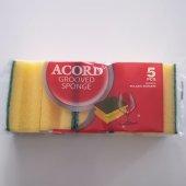 Acord 5' Li Oluklu Bulaşık Süngeri