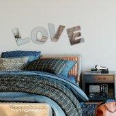 Love Dekorlu Duvar Aynası