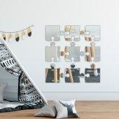 Puzzle Model Parçalı Duvar Aynası