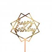 Kek Topper, Cake Topper, Happy Birthday Temalı...