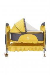Happy Baby Portatif Sepet Beşik Tekerlekli Sarı...