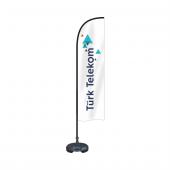 Reklam Ediyoruz Yelken Bayrak Türk Telekom Logolu Bidon Ve Direk Dahil